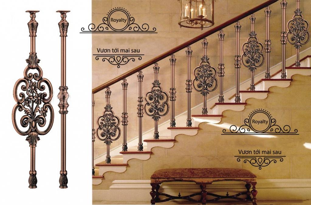 Cầu thang nhôm đúc -CT11
